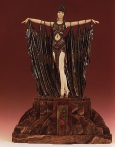 Semiramis. Painted and cold-painted bronze and ivory on onyx and marble base. 26-1/4 in. (67 cm) high. Michael Pozsgay collection, St. Louis.