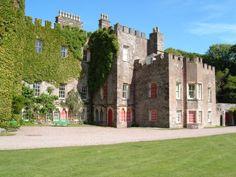 Impressive Hartland Abbey just inland from the north Devon Coast