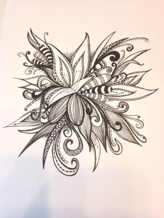 Floral doodle by Tracey Chorley 27 May 2014