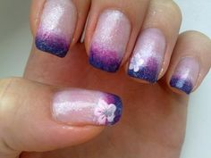 Purple Ombre Nails :) | LUUUX