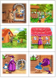 speelplankaarten Hans en Grietje Sequencing Pictures, Sequencing Cards, Story Sequencing, Kindergarten Writing Activities, Kids Math Worksheets, Sequencing Activities, Hansel Y Gretel Cuento, Grammar For Kids, Fairy Tale Activities