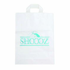 Custom Plastic Shopping Bag with Soft Strap Handles #shooozplasticshoppingbags #plasticbag #plastic #shoppingbags #plasticshoppingbags #shoooz #packaging