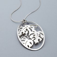 Monstera Pendant (Reversible) $165