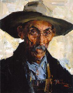 Старик в серой шляпе (1934—1955). Николай Фешин