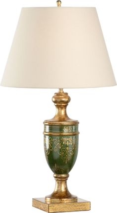 Florence Lamp-Green Decor, Green, Lighting, Lamp, Brass Table Lamps, Table, Home Decor, Brass Table