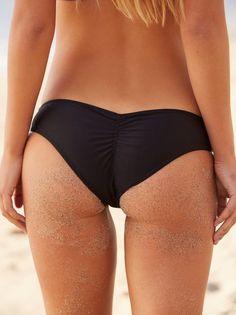 Free People X Beach Riot Nikki Bikini Bottom Swim Black Medium New #FreePeople #BikiniBottom