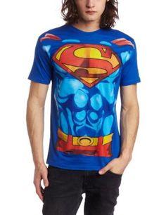 873cc23c8 Bioworld Men's Superman Muscle Costume Tee Superman Costumes, Superman  Outfit, Superman T Shirt,