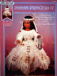 Indian Princess IV Doll Wedding Dress Crochet by NeedANeedle, $5.75