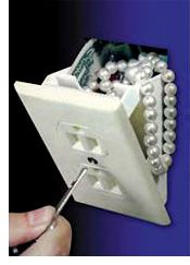 Wall outlet mini safe - smart idea for hiding things