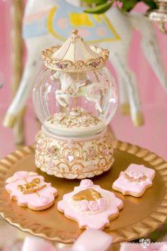 Carousel cookies from an Enchanted Carousel Birthday Party on Kara's Party Ideas | KarasPartyIdeas.com (10)