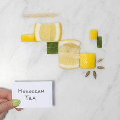 & Other Stories | The makings of one of our favourite fragrances 'Moroccan Tea': mint, lemon, brown sugar and cardamon.