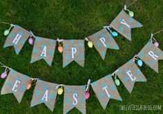 Dots & Burlap Banner...like this idea as a congratulations Jacob and Mallory banner w/wedding colors...not sure about dots though...