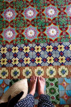 Kahanda Kanda Kick Back Wall And Floor Tiles, Floor Rugs, Unique Tile, Hippy Room, Modern Bohemian, Tile Design, Decoration, Surface Design, Print Patterns