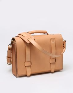 Context Leather Natural Leather Briefcase - CONTEXT CLOTHING - Free Shipping!