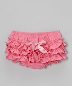 Take a look at this Lipstick Pink Ruffle Diaper Cover - Infant & Toddler on @zulily today!