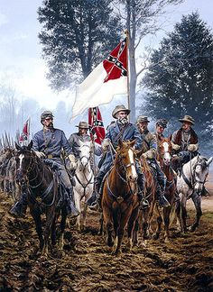 Today (March is Confederate Flag Day. On this day in President Jefferson Davis signed a Bill into Law making the National Flag the Official Flag of the Confederate States of America. Military Art, Military History, American War, American History, Civil War Art, Southern Heritage, America Civil War, Civil War Photos, Us History
