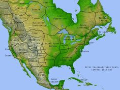 An alternate history in which Europe never discovered America.More alternate history maps >>