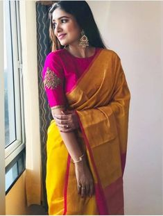 40 Stylish Blouse Designs That You Can Wear With Any Saree 25 Head Turning Pink Blouse Designs To Shop the Best 11 Sassy Poses to Make Your Saree Photos Beautiful 11 Simple Designer Saree Ideas for Dressed Down Look! Order contact my whatsapp number 78741 Indian Blouse Designs, Pattu Saree Blouse Designs, Simple Blouse Designs, Stylish Blouse Design, Bridal Blouse Designs, Blouse For Silk Saree, Neck Designs For Blouse, Pink Saree Silk, Traditional Blouse Designs