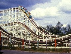 The Skyliner roller coaster in action at Roseland Amusement Park.