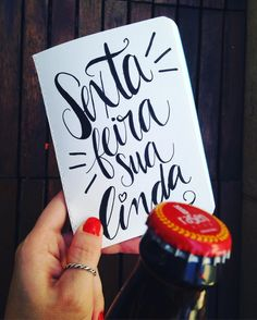 É SEXTA-FEIRA! #friday #sextafeira #calligraphy #handlettering #lettering #sketchbook #beer #happyhour