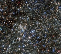 Although the Quintuplet Cluster of stars gained its name due to its five brightest stars, it is home to hundreds more. The huge number of massive young stars in the cluster is clearly captured in this NASA/ESA Hubble Space Telescope image. Cosmos, Globular Cluster, Nasa Goddard, Nasa Missions, Nasa Images, Star Formation, Hubble Space Telescope, Telescope Images, Nasa Space
