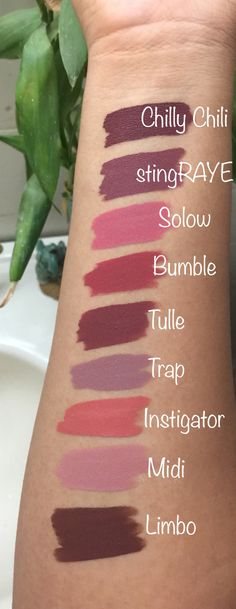 "colourpopenthusiast: ""Some of the fall/winter colors I'm loving: ColourPop edition """