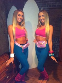 Bratz doll and barbie doll halloween costume idea very clever idea diy halloween costume retro workout barbies solutioingenieria Images