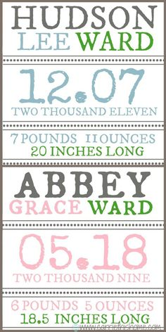 DIY Birth Announcements!  Easy and a lot less expensive!