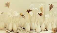 The Sweetest Occasion White Ikea Vases Paper Flower Centerpieces Origami Diy The Ikea Wedding, Fall Wedding, Diy Wedding, Wedding Ideas, Wedding Blog, Wedding Themes, Trendy Wedding, Wedding Table, Wedding Flowers