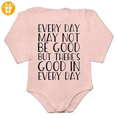 Every Day May Not Be Good But There's Good In Every Day Baby Long Sleeve Romper Bodysuit Extra Large - Baby bodys baby einteiler baby stampler (*Partner-Link)