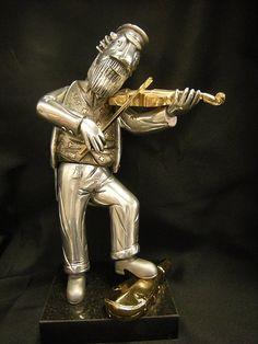 Frank Meisler Fiddler Sculpture Mosaics, Sculptures, Statue, My Love, Mosaic, Sculpture