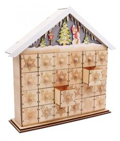 Snowman Natural Wooden Advent Calendar with Illumination - EarlyWhirly - The Best Deals on The Best Wooden & Educational Toys
