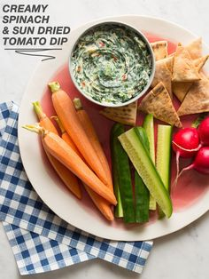 Creamy Spinach and Sun Dried Tomato Dip /