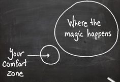 where the magic happens // your comfort zone Getting out of your comfort zone.
