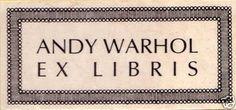 Ex libris del artista plástico y cineasta estadounidense Andy Warhol (1928-1987)