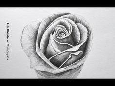 Dibujando flores: cómo dibujar una rosa a lápiz - Arte Divierte. - YouTube