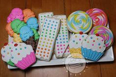 Candy Decorated Cookies