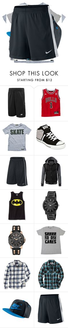 """""""Clothes"""" by demamazinganons101 ❤ liked on Polyvore featuring New Balance, Finger in the Nose, Converse, Kenneth Cole, GUESS, Old Navy and NIKE"""