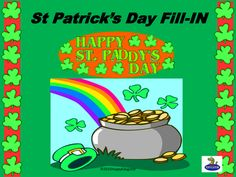 A fill-in the blank short story about St. Patrick to project on the Smartboard...or print. Learn the history of St. Patrick's Day while building reading and vocabulary skills.