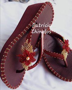Flip Flops, Slippers, Scrapbooking, Footwear, Beads, Crochet, Collection, Women, Fashion