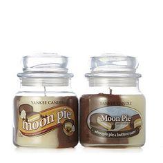 Yankee Candle Set of 2 Moon Pie Swirls Medium Jars