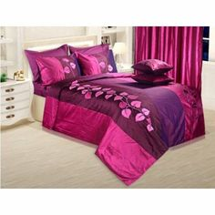 Establish your demand for #beauty with these splendid #bedspreads set of 5 - a #bed cover, 2 #pillow & #cushion covers.