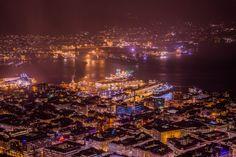 Bergen by night by Rune Hansen on 500px