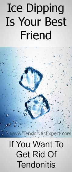 Have tendonitis?  Ice Dipping is one of your strongest tools to reduce pain levels.  (Obviously not very practical for Whiplash or shoulder tendonitis....) http://www.TendonitisExpert.com/how-to-reduce-inflammation.html