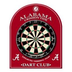 Alabama Crimson Tide Bama Dart Board Back, Game Room Equipment