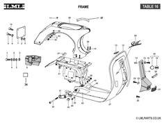 (16) FRAME - Tasso LML Scooter Spare Parts