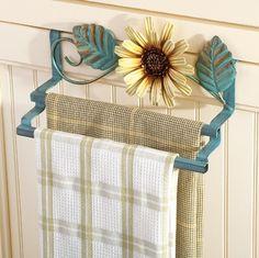 Sunflower Cabinet Towel Rack