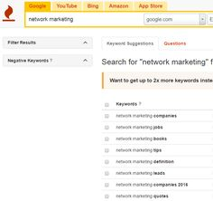 You are all using Keywords you just may not realise it!  When you add a hashtag to your post that is a keyword.  Your tags in blogs or YouTube uploads are keywords.  They help put your content in front of the right people.  If you are unsure what keywords you should be using I recommend this free resource:  http://keywordtool.io/  You simple put in your subject area and it will bring up a list of keywords for you to use.    In the example below I have used network marketing and it has…