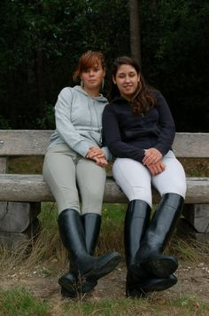 Teens riding boots