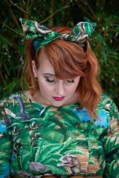 Dinosaur Dress and Headband by Silly Old Sea Dog in UK sizes 6-24